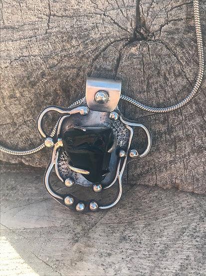 Apache Tear Obsidian Pendant Necklace