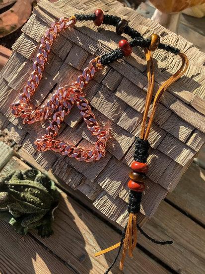 Heavy Copper Long Necklace