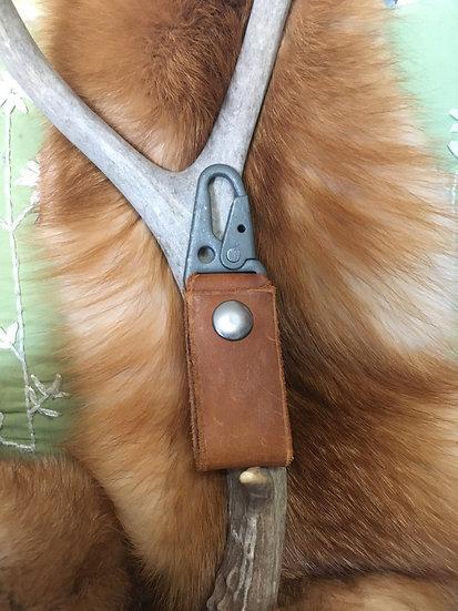 Brown Leather Belt Loop Keychain
