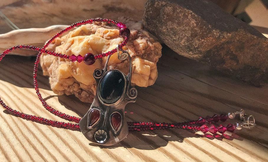 Onyx & Carnelian Necklace