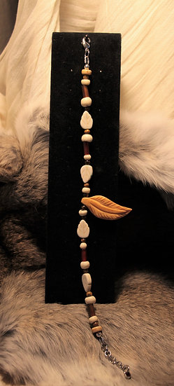 Bone Feather Anklet