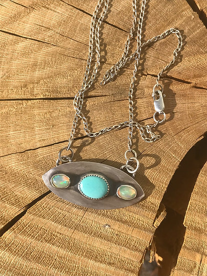 Opal & Turquoise Pendant