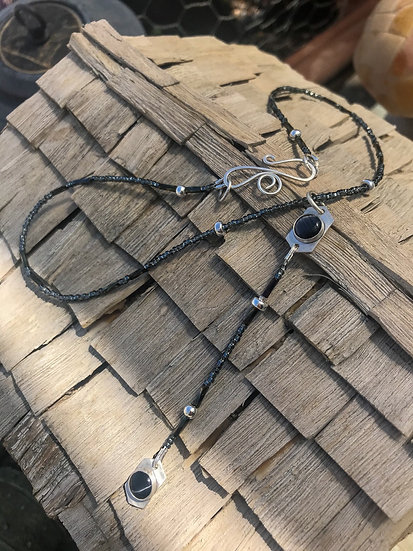 Cat's Eye Rosary Inspired Necklace