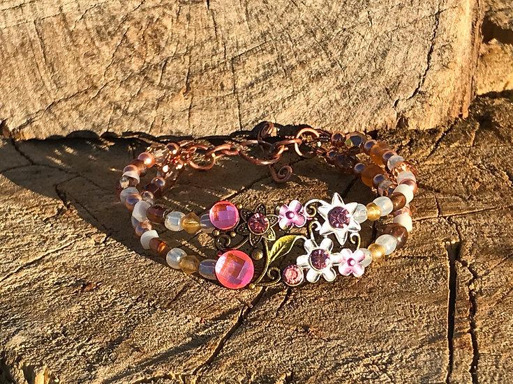 "Floral ""Buckle"" Bead Bracelet"