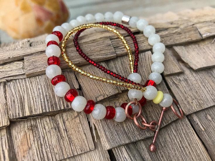 Vintage Bead Stack Bracelet Set