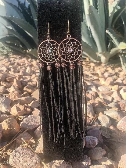 Metal Dreamcatcher Earrings
