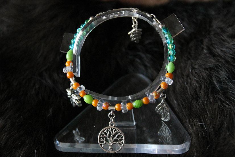 """Tree"" Fully Beaded Charm Bracelet"