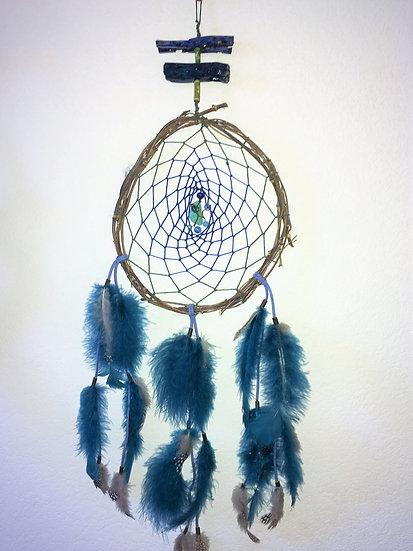 Blue Bamboo Dreamcatcher