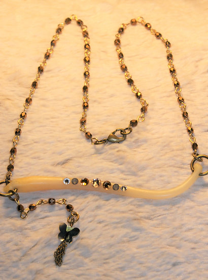 Beaded Chain Racoon Necklace