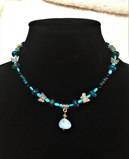 """""""Turquoise"""" Butterfly Choker"""