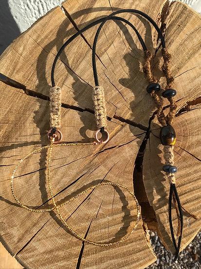 Long Macramé Beaded Necklace
