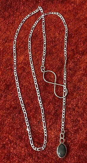Infinity Jasper Lariat Necklace