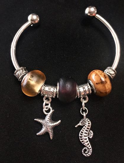 Sea and Star Bangle Bracelet