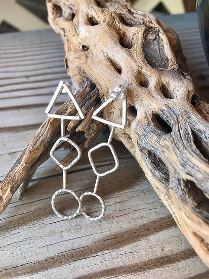Geometrical Sterling Earrings