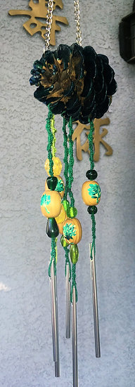 Green Pinecone Wind Chime