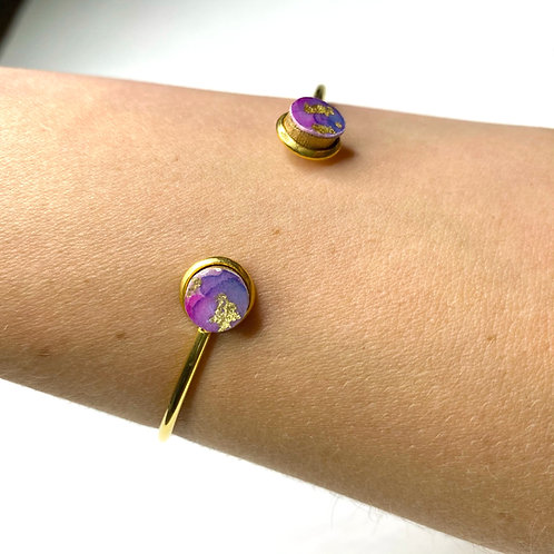 Wild Collection- Alexandrite (Purple and Blue) with Gold