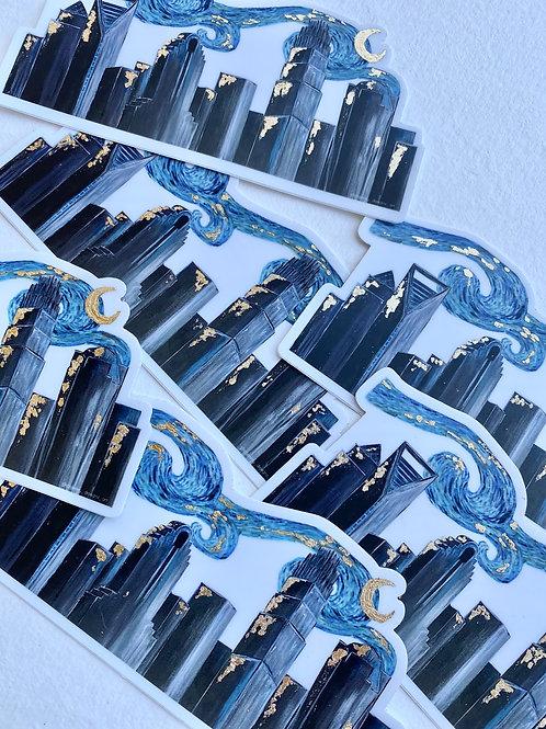 Immersive Van Gogh CLT Skyline STICKERS