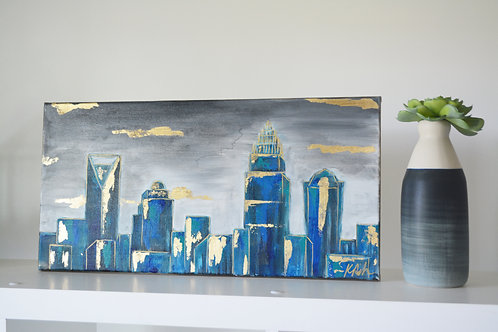Blue and Grey Skyline