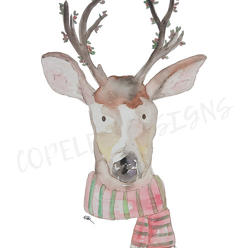 Holiday Reindeer Print