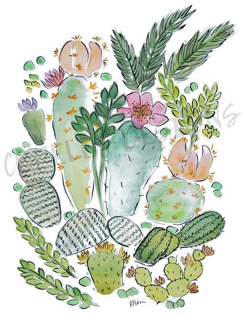 Flower Cacti Print