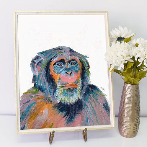 Colorful Chimpanzee- PRINT
