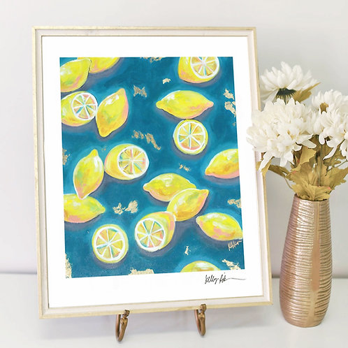 Lemons in Blue- PRINT