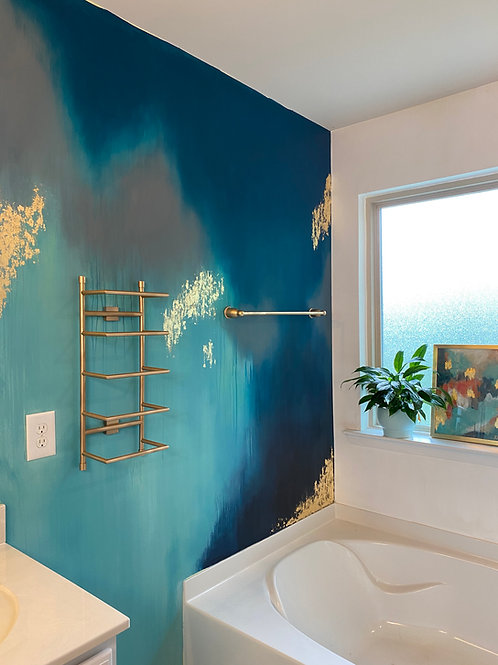 Abstract Gold Leaf Mural Wall Tutorial Online