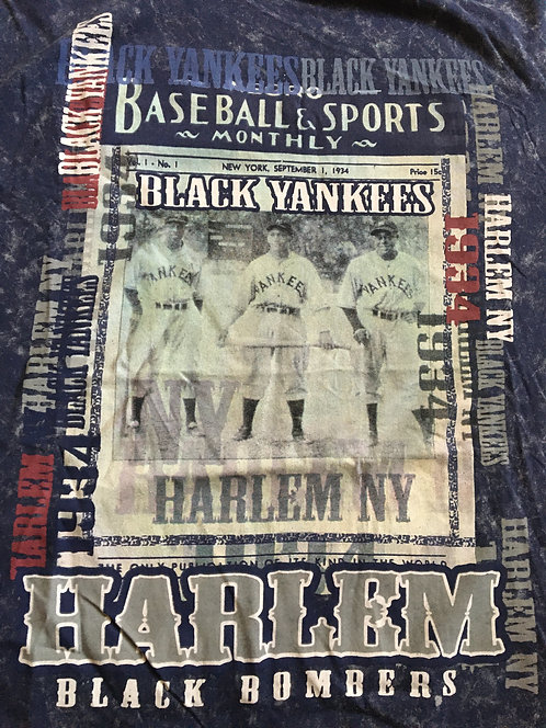 New York Black Yankees T-Shirt [Blue]