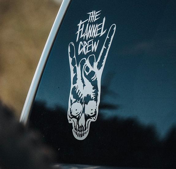 The Flannel Crew (Devil Horns) Sticker