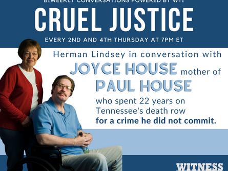 Cruel Justice Host Herman Lindsey Talks with Joyce House