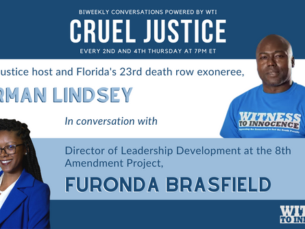 Herman Lindsey Discusses Death Penalty Abolition with Furonda Brasfield on Cruel Justice
