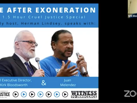 Herman Lindsey Hosts A Cruel Justice Special Event: Life After Exoneration