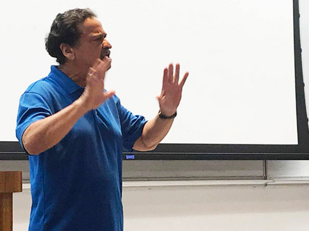 Juan Melendez speaks at UNLV