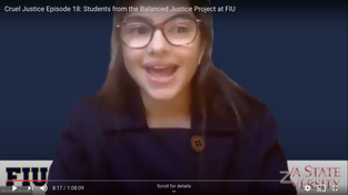 Herman Lindsey talks with FIU Students about their work with the Balanced Justice Project