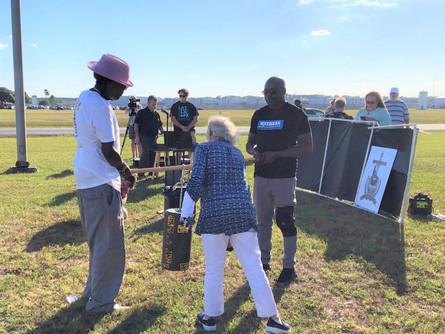 Derrick Jamison and Herman Lindsey attend execution vigil