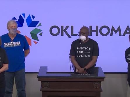 Oklahoma News Report Features WTI Event for Julius Jones