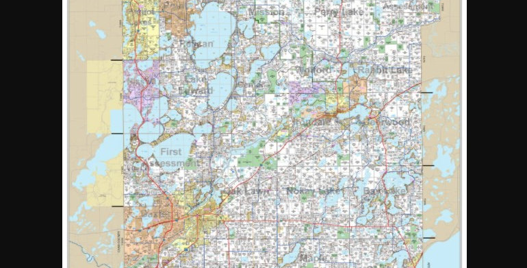 Wall Map of Crow Wing County, MN-Photo Paper
