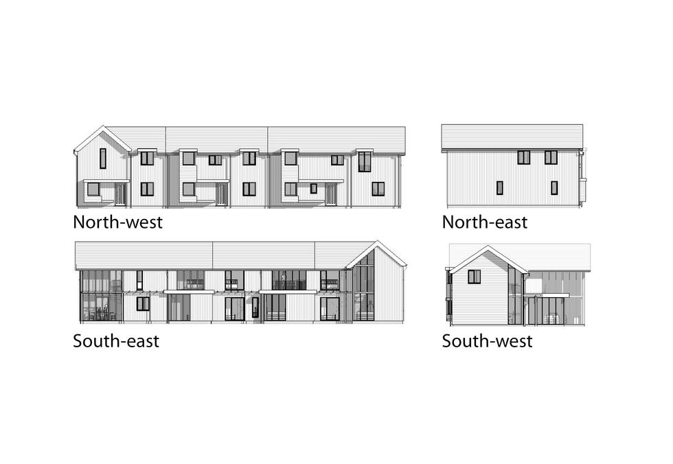 Proposed two storey elevations