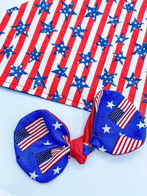 HAIRBOW BLUE 4TH OF JULY