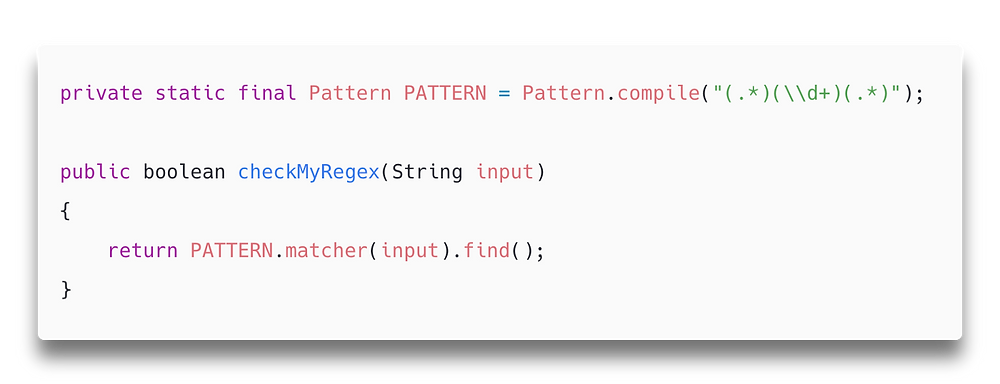 Pattern.compile