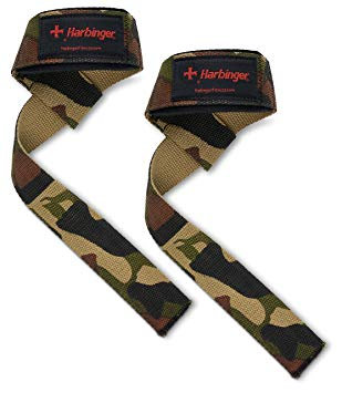 Harbinger Padded Cotton Lifting Straps Camo