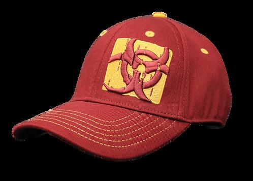 MUTANT BIOHAZARD - BURGUNDY BASEBALL CAP