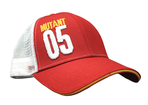 Mutant 05 Red Truckers Snap Cap