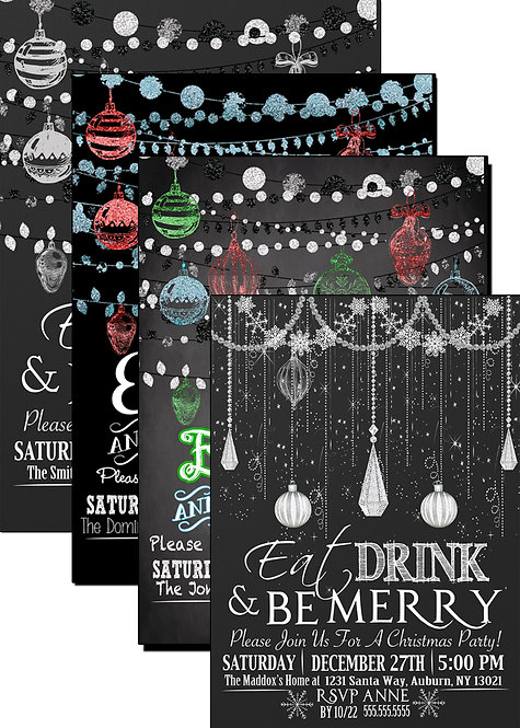 Eat drink & be merry invites