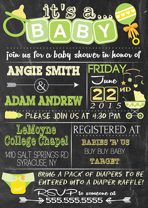 It's a Baby Shower Invite Unisex