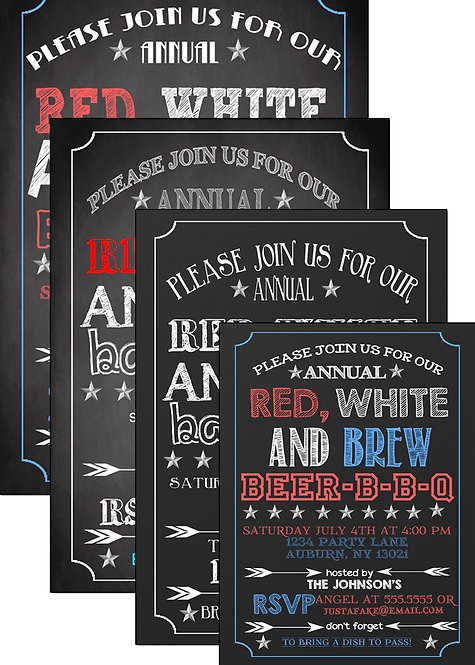 Red White & Brew Invite