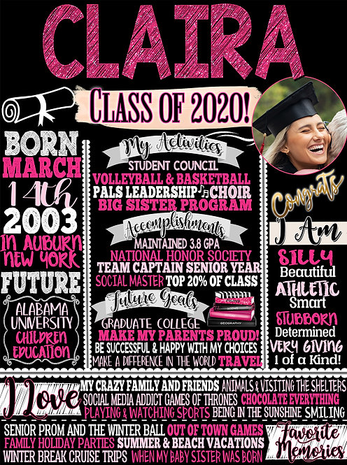 Pink Class of 2020