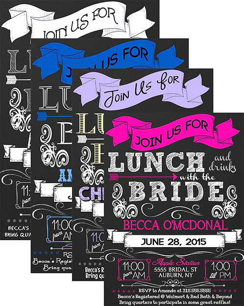 Lunch bridal shower invite