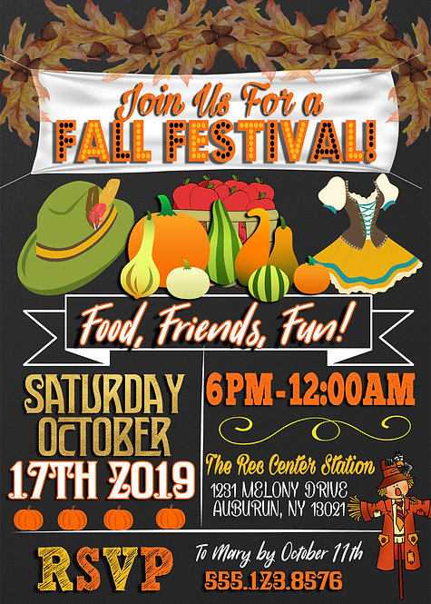Fall Festival Printable