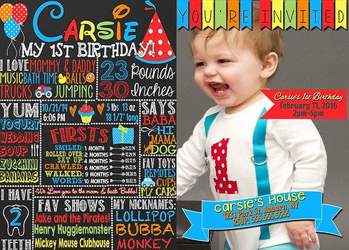 Milestone Birthday Invite